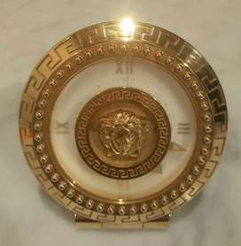 Jam Meja Gianni Versace France 460 Th.1996 Gold Plate Limited Edition