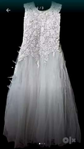 Long white wedding dress