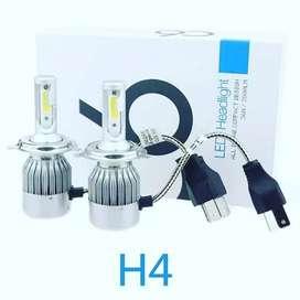 Bohlam Lampu Depan LED H4 6000K
