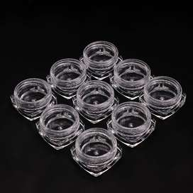 12Pcs Round Small Storage Plastic Bottle for Jewelry Beads, Cosmetics