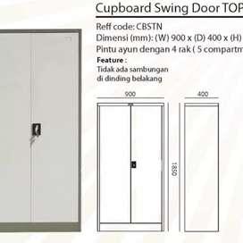 Lemari arsip besi pintu swing merk TOP by Datascrip