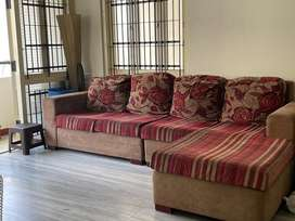 L Shape 5 Seater Sofa. Damro Make