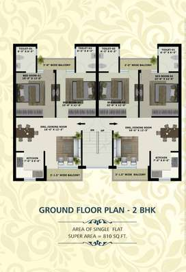 2BHK Spacious Flats In 17.90 Lacs at Mohali sector 124