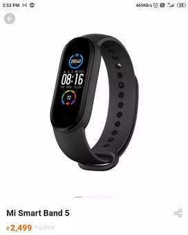 Mi smart band 5,brand new cndition,with bill,5 mnth old  but unused a
