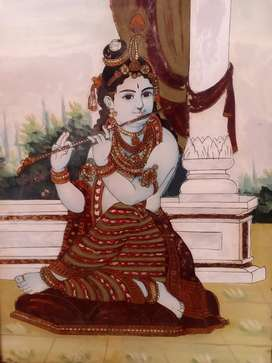 Antique painting of lord Krishna