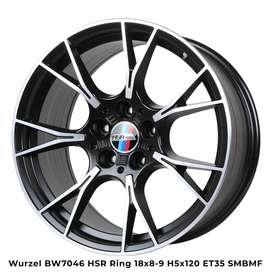 Velg Kece BMW WURZEL BW7046 HSR R18X8/9 H5X120 ET35 SMBMF