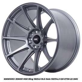 ready velg SHINJUKU JD8051 HSR R18X95-105 H10X114,3-120 ET30-22 SMG