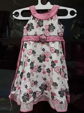 baju anak pink bunga bunga