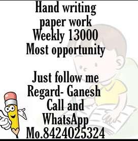 Novel book handwriting job