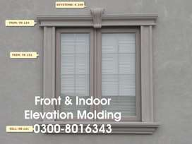 Front elevation molding design Windows Roof Doors Commercial Trim
