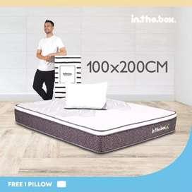 IntheBox - Kasur Spring Bed Inthebox X (Single) 100 x 200 x 27Cm Putih