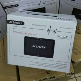 Headrest Monitor Sansui Clip On 8inch 1 SET(2bj) GARANSI 1 THN