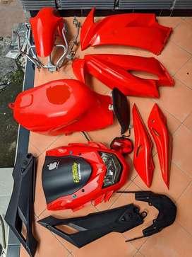 Body set Ninja RR new 150 2 tak krr cover bodi tanki tangki lampu mika