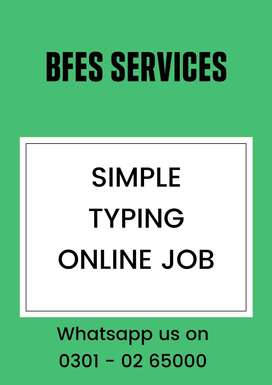 Simple online typing work to earn at home daily