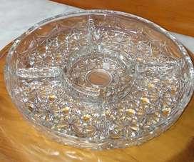 Piring saji kristal bohemia