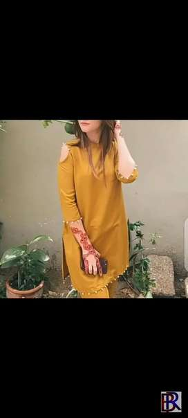 Fancy suit dciner  hand made work on kurti kurti And lahngha with dupt