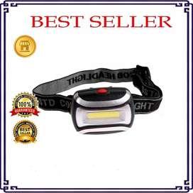 Lampu Senter Headlamp Flashlight 3 Modes Headlight Solo Micro