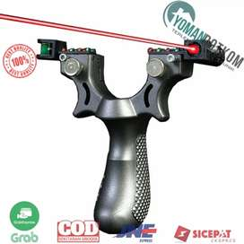 SSGX SYQT Big Power Ketapel Tactical Slingshot with Laser Sight