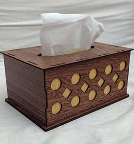 Wooden Tissue Box For Home & Office Use