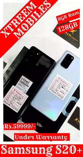 Samsung S20+..8/128..Under Warranty.. 100% Fresh Condition.