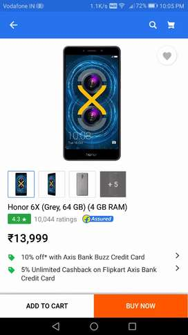 Honor 6x 32 gb, 3gb ram