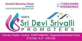 4 years used flat for sale in Konthamuru
