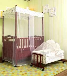 Babyhug cot with cradle