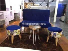 sofa keyrio dan 2 stoll + meja akar