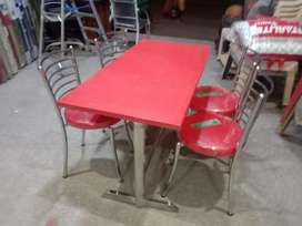 Brand New Fresh Dining Table With 4 Chair Red Colour