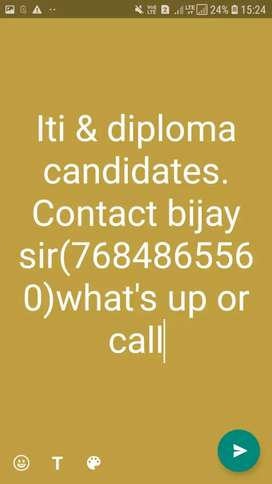 Urgent requirement diploma  candidates