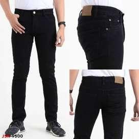 Celana Jeans Hitam Soft jeans stretch