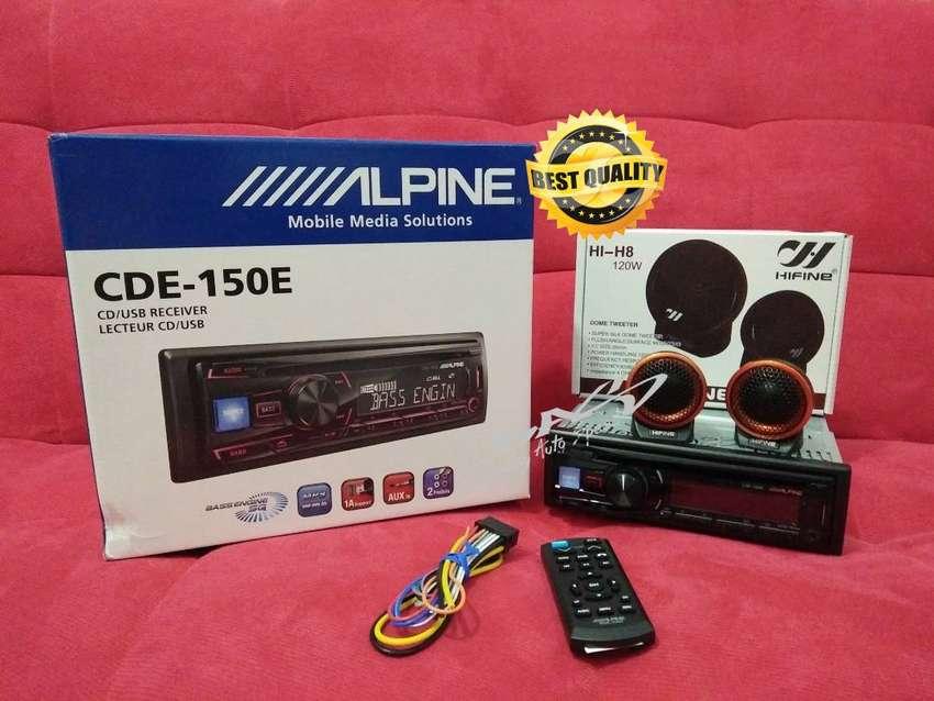 Paket premium single din Alpine 150E plus tweter Hifine H1-H8 bening 0