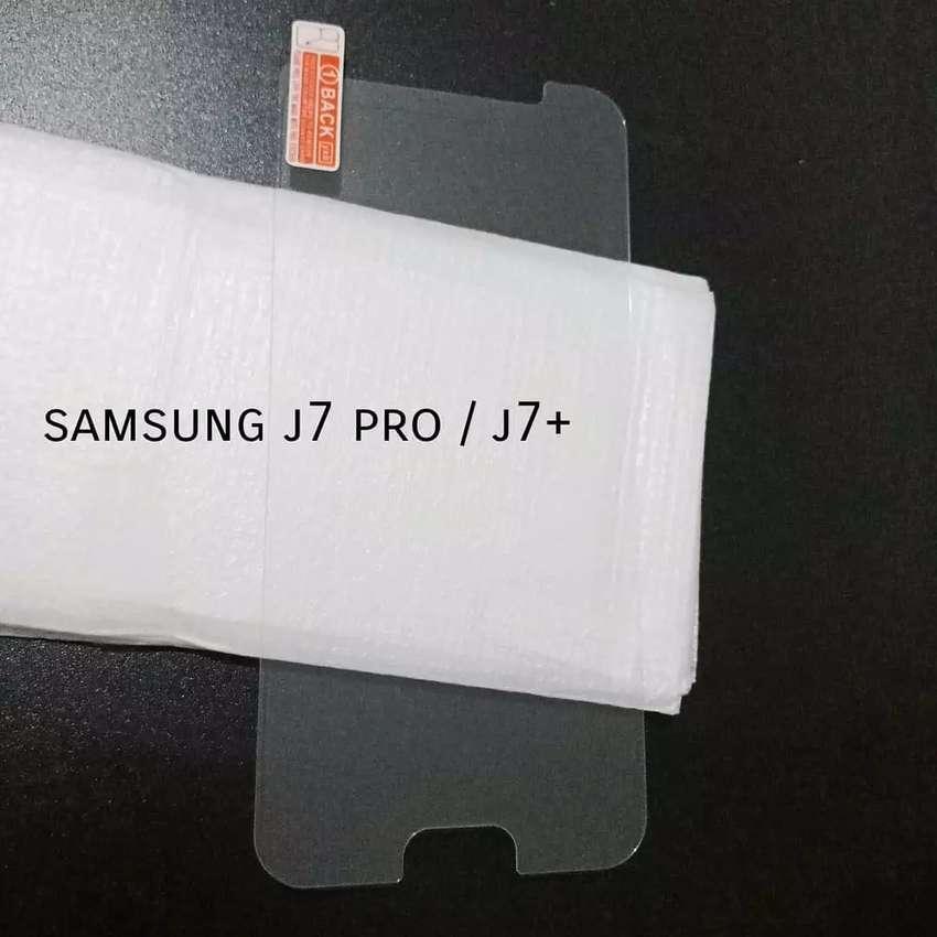 Tempered kaca 2.5D glass Samsung J7pro 0