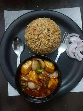 1 Chinese aur 1south indian cook ki jarurt