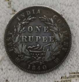 1840 - Victoria queen old coin