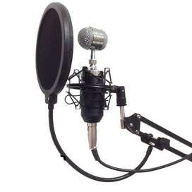 Paket LITE microfon Rekaman / Smule Mic Kondenser BM 8000 + Stand