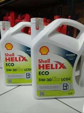 OLI MOBIL SHELL HELIX ECO (5W - 30) FULLY SHYNTHETIC FREE JASA