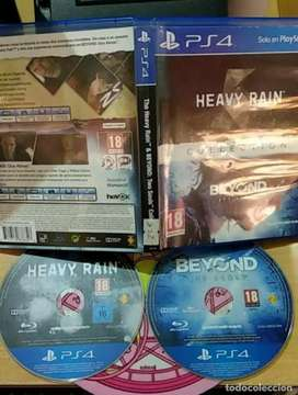 Beyond two souls & Heavy Rain PS4 2 dvds in one package
