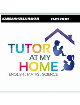 Experienced home tutor available for class  one to matric