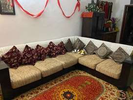 Excellent wooden sofa set for sale