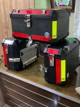 Panniers and top box