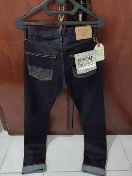 Celana Jeans Bespoke non Selvedge not levis wrangler uniqlo sage