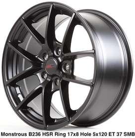 Velg mobil BMW MONSTROUS B236 HSR R17X8 H5X120 ET37 SMB