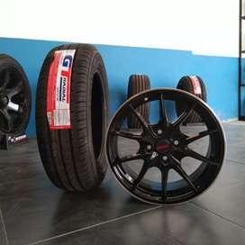 Paket velg dan ban racing r15×7 h4×100 et+38 buat etios baleno dll.