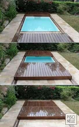 Penutup kolam renang otomatis keren