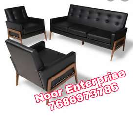 Black colour leatherite wooden frame with polish