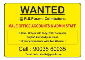 Male Office Accounts & Admin Staff