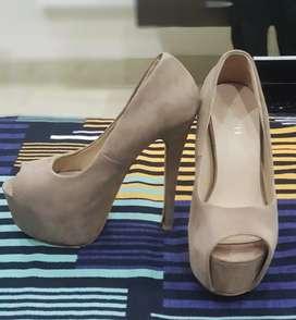 Peach High Heels