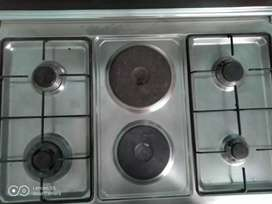 Oven electric and gas burner