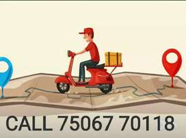 Delivery jobs all over delhi